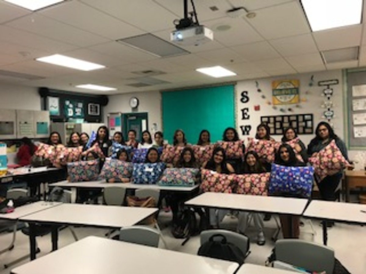 Sewing Panthers Stitch Good Deeds