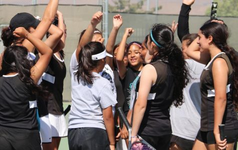 Girls JV Tennis Hosts Cabrillo High School!