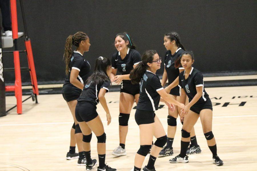 Jv Volley Ball Girls Play Against Morrobay!