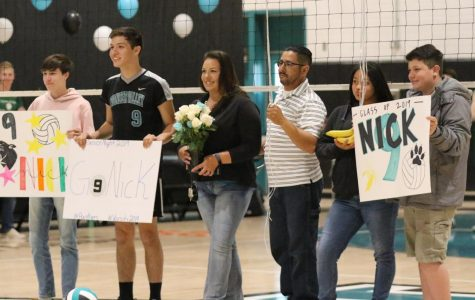 Varsity Volleyball Defeats the Eagles on Senior Night