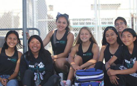 From left to right:  Lauren Carandang (12), Ashley Santiago (12), Charlize Placencia (11), Katie Magni (11), Maritsa Carmona (9), Makayla Gonzalez (9) Back: Kimberly Castro (11)